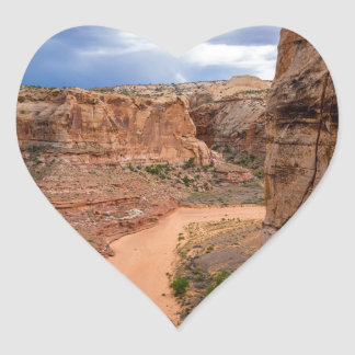 Entering Horseshoe Canyon - Utah Heart Sticker