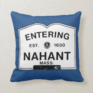 Entering Nahant Throw Pillow