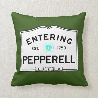 Entering Pepperell Throw Pillow