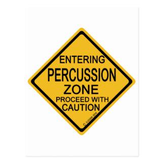 Entering Percussion Zone Postcard