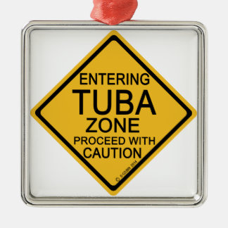 Entering Tuba Zone Metal Ornament