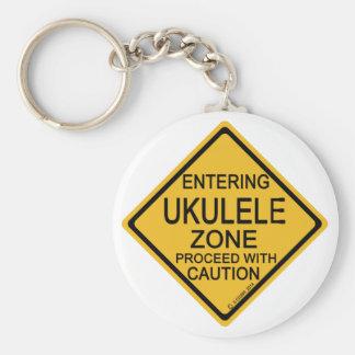 Entering Ukulele Zone Keychain