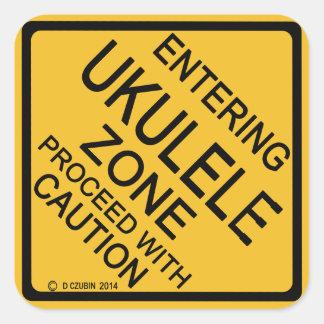 Entering Ukulele Zone Square Sticker