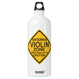 Entering Violin Zone Water Bottle