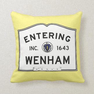 Entering Wenham Throw Pillow