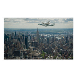 Enterprise Flies Over New York City Poster