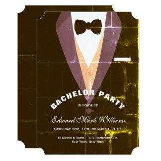 Enterrement de vie de jeune garçon vintage de carton d'invitation  12,7 cm x 17,78 cm