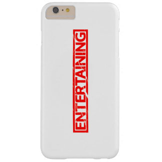 Entertaining Stamp Barely There iPhone 6 Plus Case