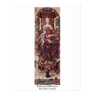 Enthroned Madonna By Carlo Crivelli Postcard