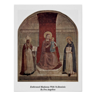 Enthroned Madonna With St.Dominic By Fra Angelico Poster
