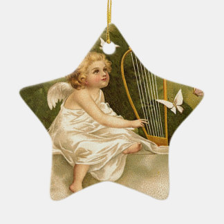 Enthusiasm for Life Ceramic Star Ornament