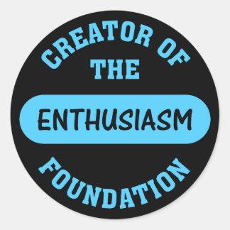 Enthusiasm Foundation Creator Round Sticker