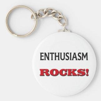 Enthusiasm Rocks Keychain