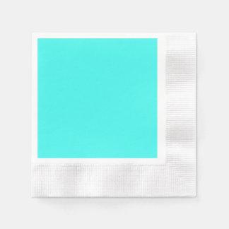 Enthusiastic Aqua Blue Turquoise Color Napkin