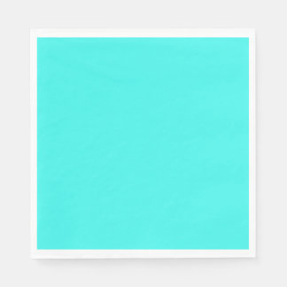 Enthusiastic Aqua Blue Turquoise Color Paper Napkin