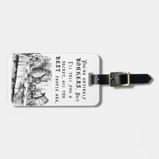 entirely bonkers A4 Luggage Tag