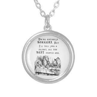 entirely bonkers A4 Silver Plated Necklace
