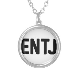 ENTJ SILVER PLATED NECKLACE