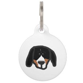 entlebucher 2 sided dog head cartoon pet ID tag
