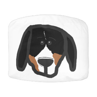 entlebucher 2 sided dog head cartoon pouf