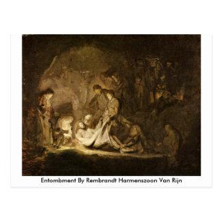 Entombment By Rembrandt Harmenszoon Van Rijn Postcard