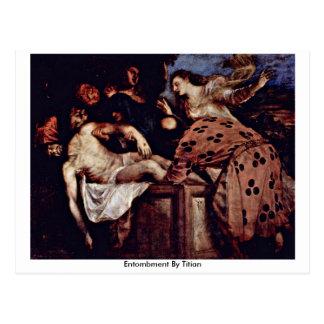 Entombment By Titian Postcard