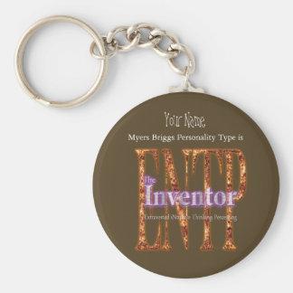 ENTP theInventor Basic Round Button Keychain