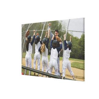 Entraîneur avec l'équipe de baseball toile tendue