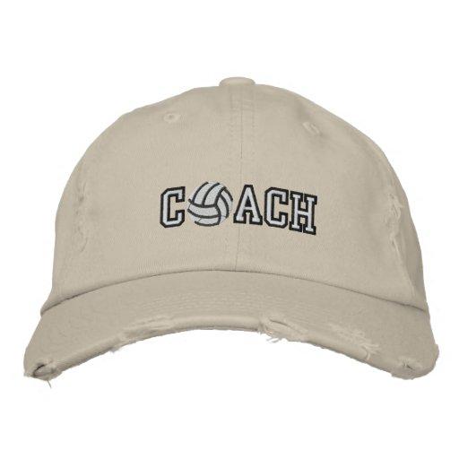 Entraîneur de volleyball chapeaux brodés