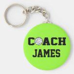 Entraîneur de volleyball - personnalisé porte-clés