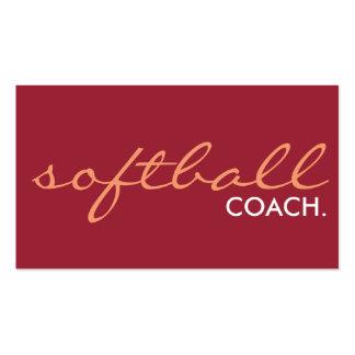 entraîneur du base-ball. (couleur personnalisable) cartes de visite personnelles