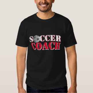 Entraîneur du football (rouge) tee shirts