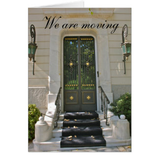 Entrance steps to a double door  We are moving Card