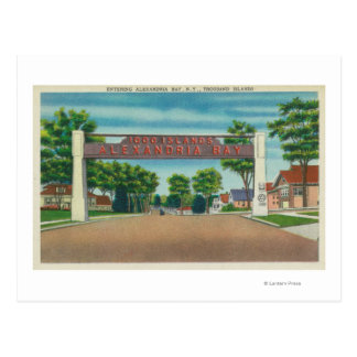 Entrance to Alexandria Bay View Postcard