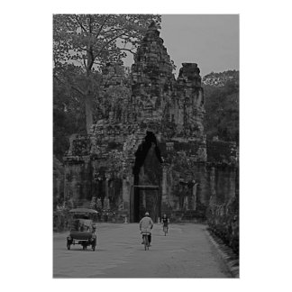 Entrance to Angkor Wat Poster