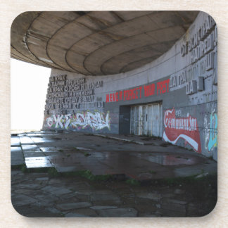 Entrance to Buzludzha, Balkan Mountains, Bulgaria Coaster
