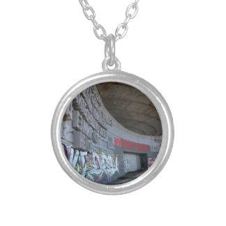 Entrance to Buzludzha, Balkan Mountains, Bulgaria Silver Plated Necklace