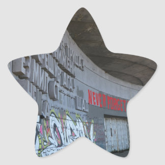 Entrance to Buzludzha, Balkan Mountains, Bulgaria Star Sticker