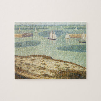 Entrance to Harbor by Georges Seurat, Vintage Art Jigsaw Puzzle