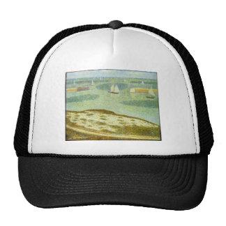 Entrance to Port-en-Bessin by Georges Seurat Trucker Hat