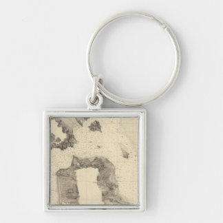 Entrance to San Francisco Bay California Silver-Colored Square Keychain