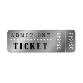 Entrence Entreatment Ticket Show Vintage Silver