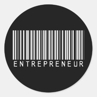 Entrepreneur Bar Code Round Sticker