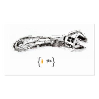 Entrepreneur de dessin de clé d'outil d'homme de carte de visite standard