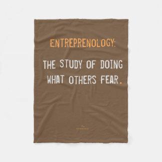 Entreprenology:  The study of doing what... Fleece Blanket