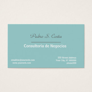 Entreprise Soft/Blue Consultant Rep Professional Business Card