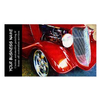 Entreprises de peinture automatiques de voiture carte de visite standard
