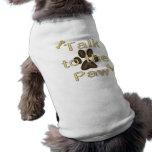 Entretien à la patte tee-shirt pour chien