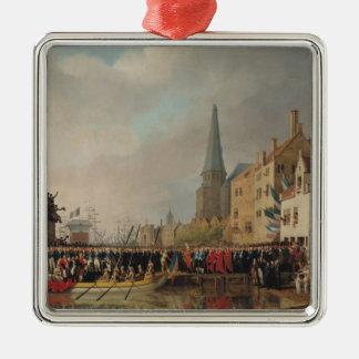Entry of Bonaparte, as First Consul Silver-Colored Square Ornament