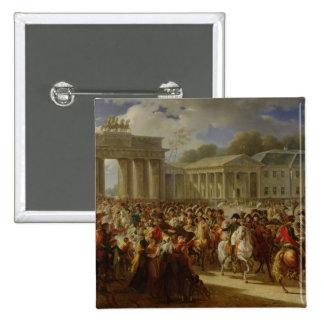 Entry of Napoleon I  into Berlin 2 Inch Square Button